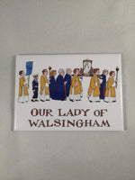 Alison Gardiner Fridge Magnet – Walsingham Procession | Gifts | The Shrine Shop