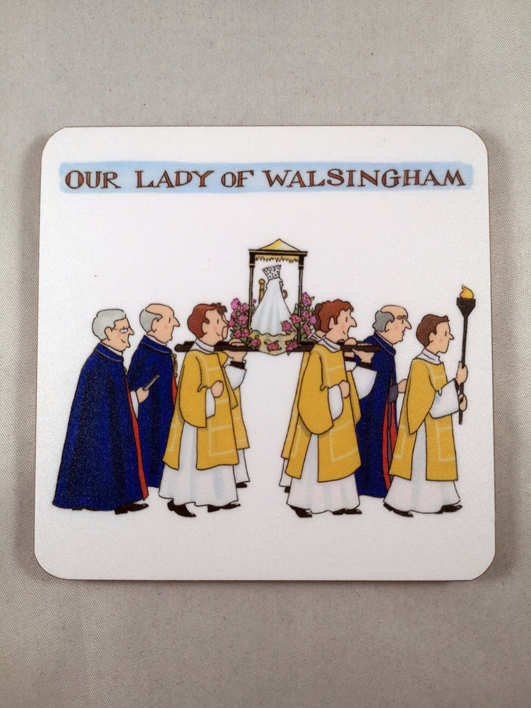 Alison Gardiner Coaster – Walsingham Procession | Gifts | The Shrine Shop