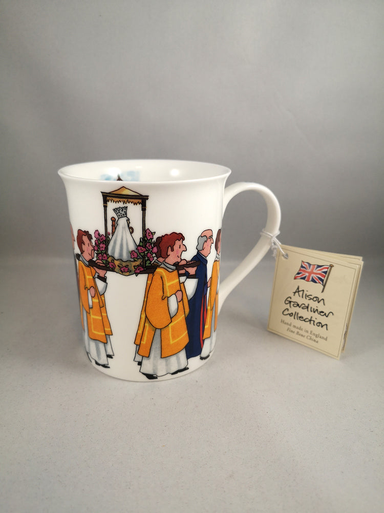 Alison Gardiner Fine Bone China Mug – Our Lady Of Walsingham Procession | Our Lady of Walsingham | The Shrine Shop