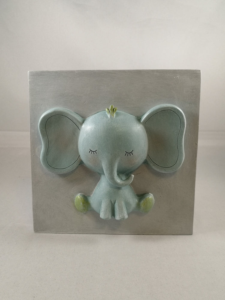 Pastel Elephant Plaque