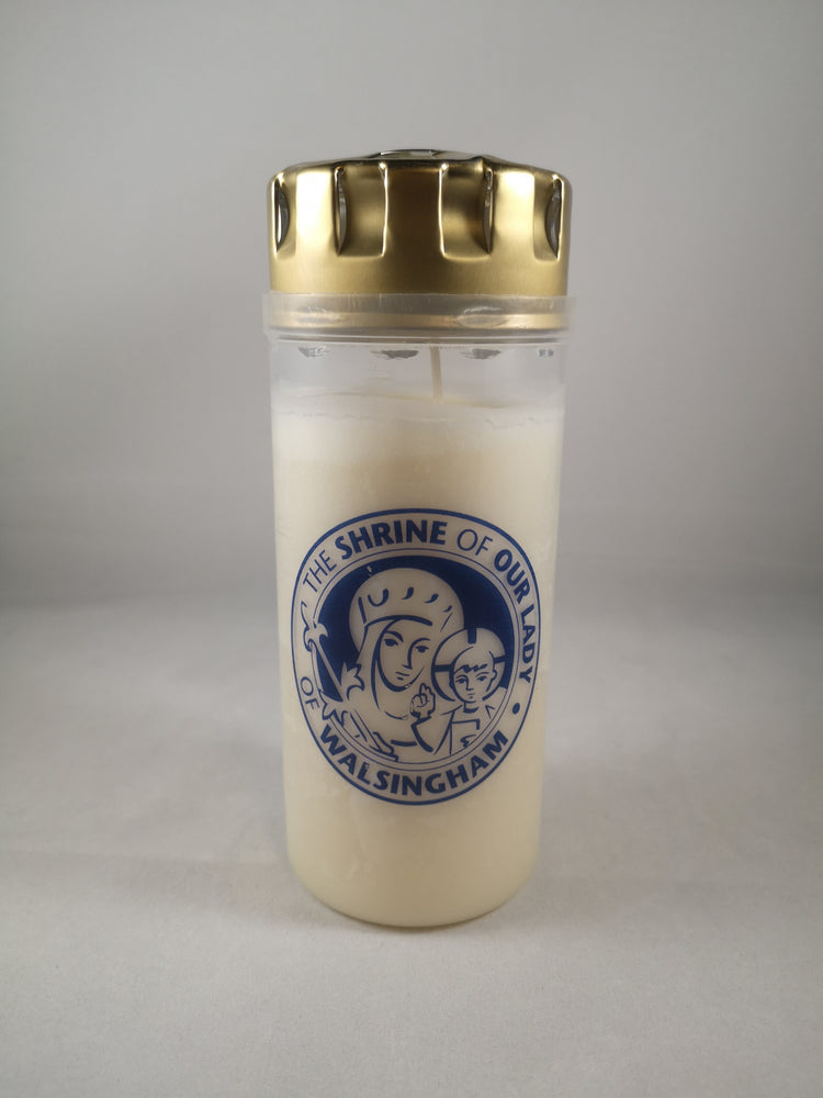 Our Lady of Walsingham Windproof Grave Candle