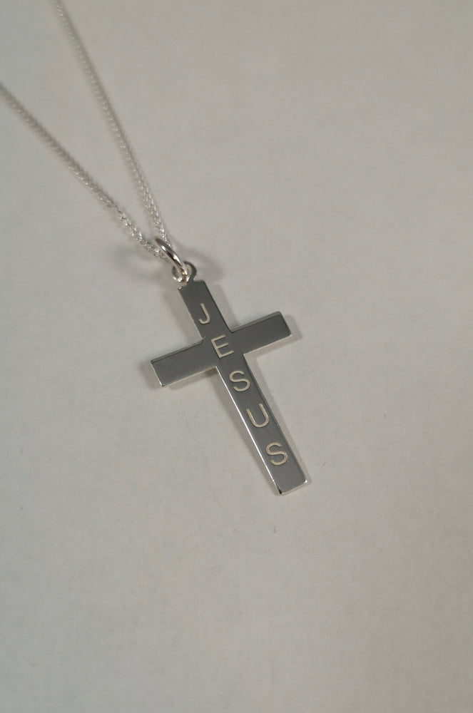 Sterling Silver 'Jesus' Cross | Jewellery & Medals | The Shrine Shop