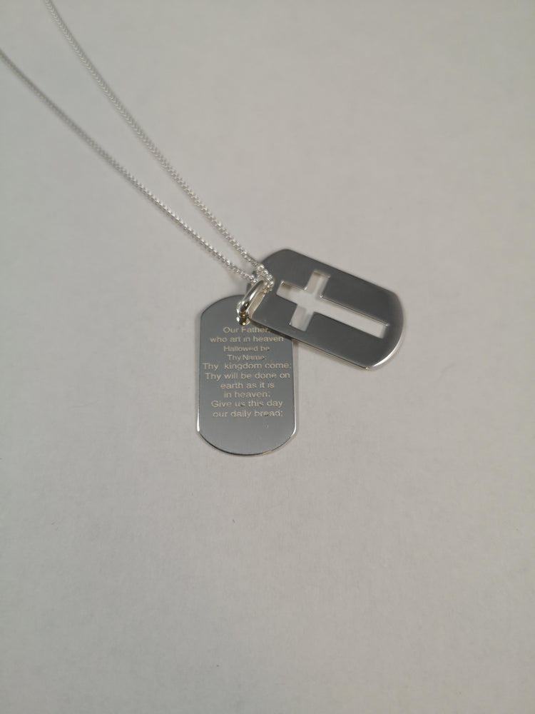 Sterling Silver Lord's Prayer Pendant