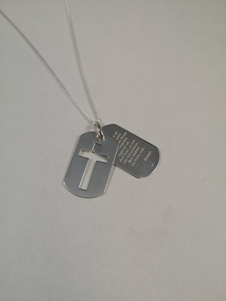 Sterling Silver Lord's Prayer Pendant | Jewellery & Medals | The Shrine Shop
