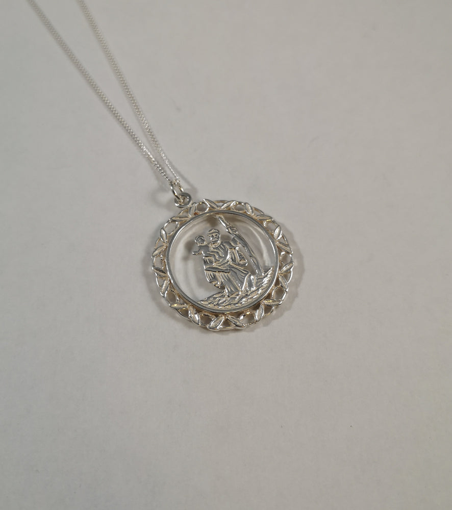 Sterling Silver Saint Christopher Necklace | Jewellery & Medals | The Shrine Shop