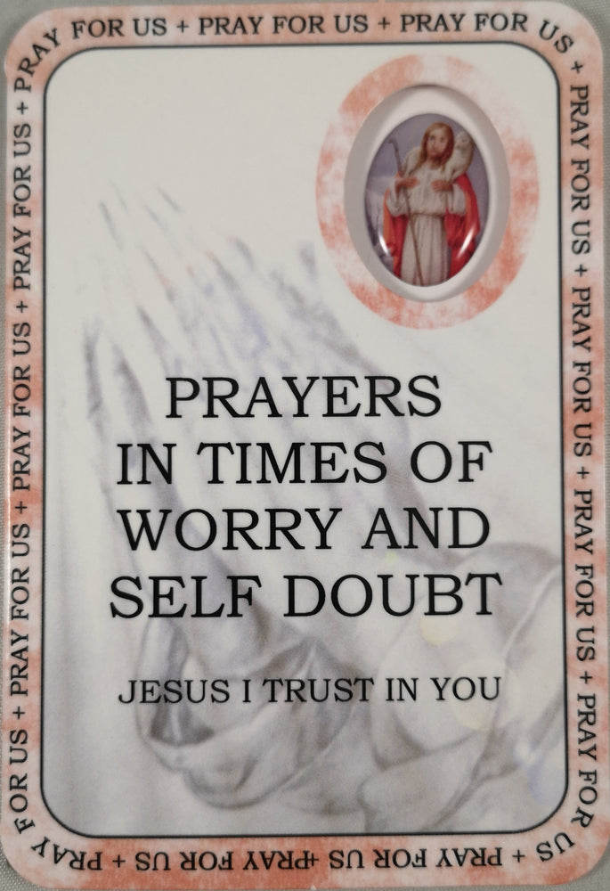 Prayers in time of Worry and Self Doubt Prayer Card