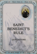 Saint Benedict's Rule Prayer Card | Rosaries & Prayer Cards | The Shrine Shop
