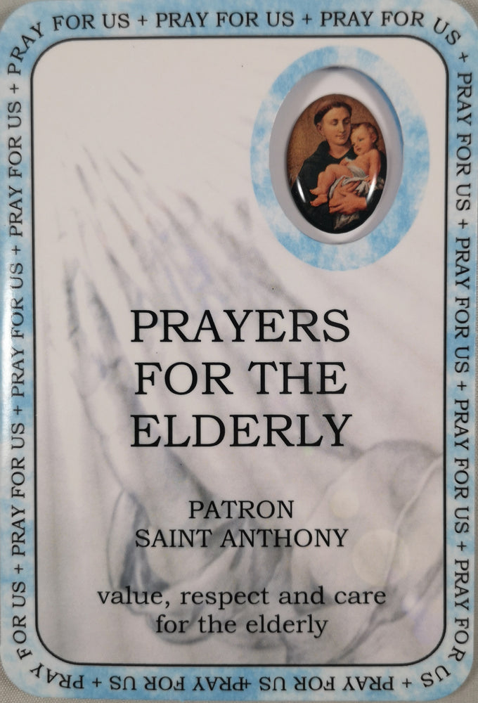 Prayers for the Elderly Prayer Card | Rosaries & Prayer Cards | The Shrine Shop