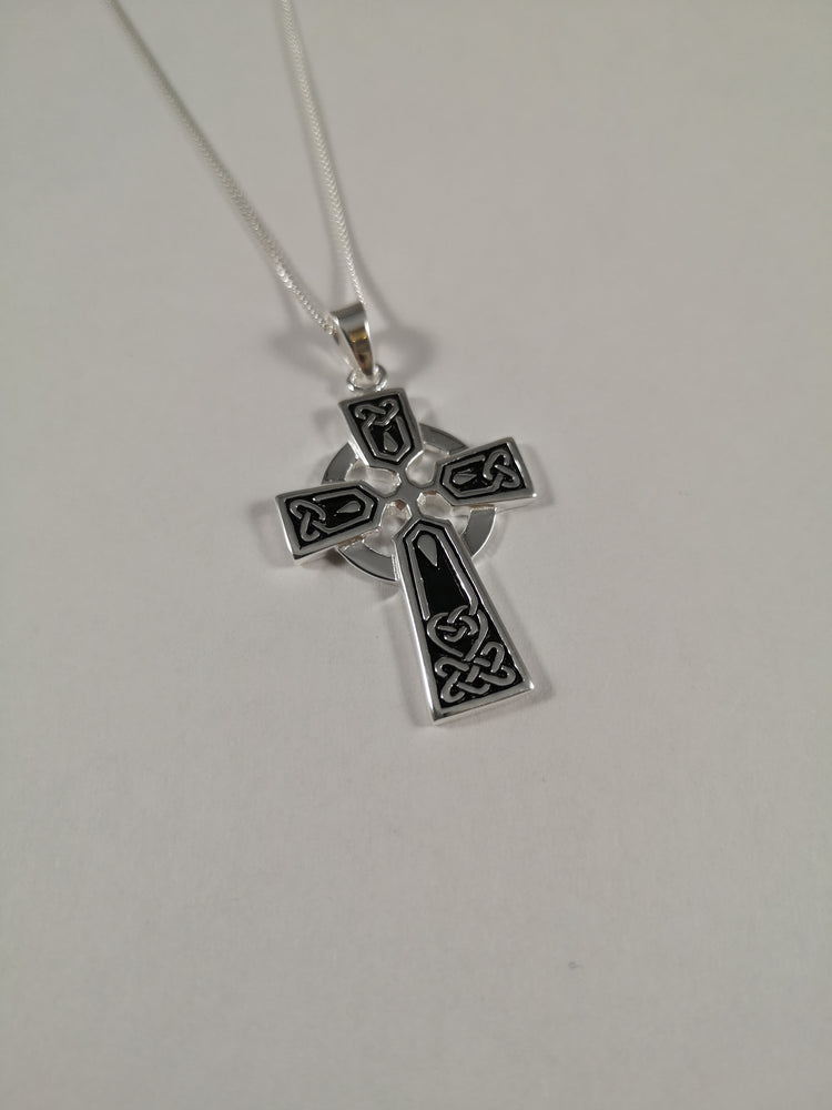 Sterling Silver Celtic Cross Necklace | Jewellery & Medals | The Shrine Shop