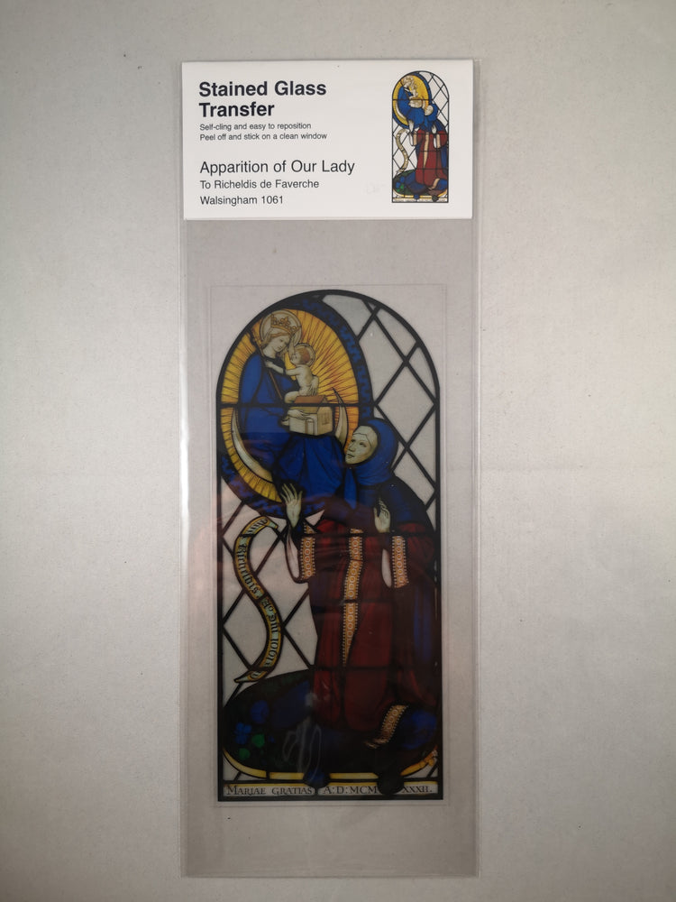 Window Cling – Apparition of Our Lady