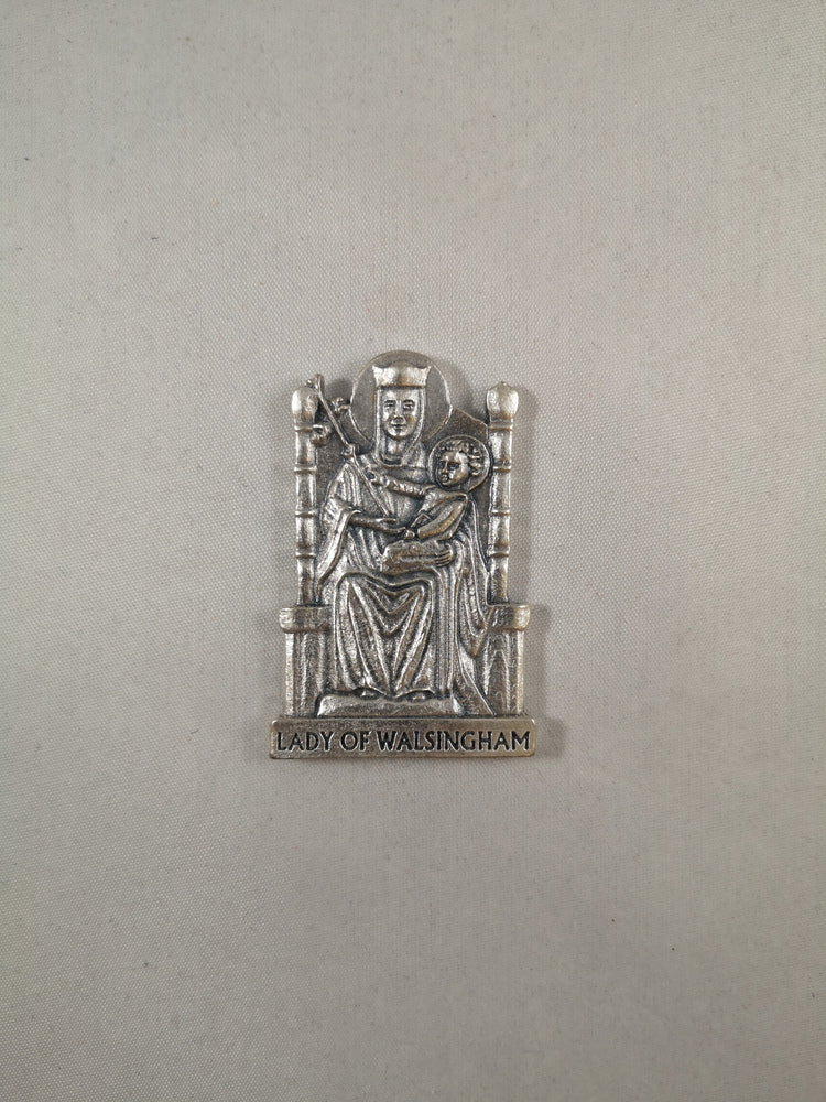Metal Our Lady of Walsingham Statue Medal