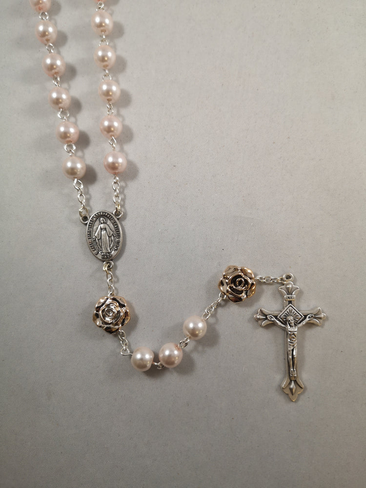 Pearlised Pink Rosary