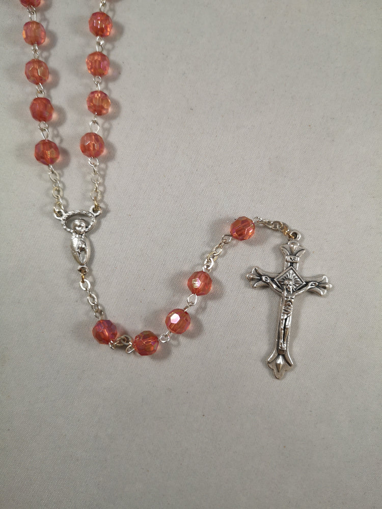 Glass Faceted Rosary
