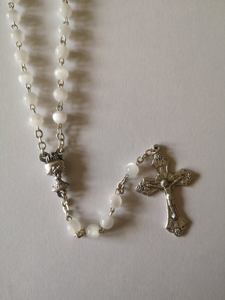 Pearlised Communion Rosary