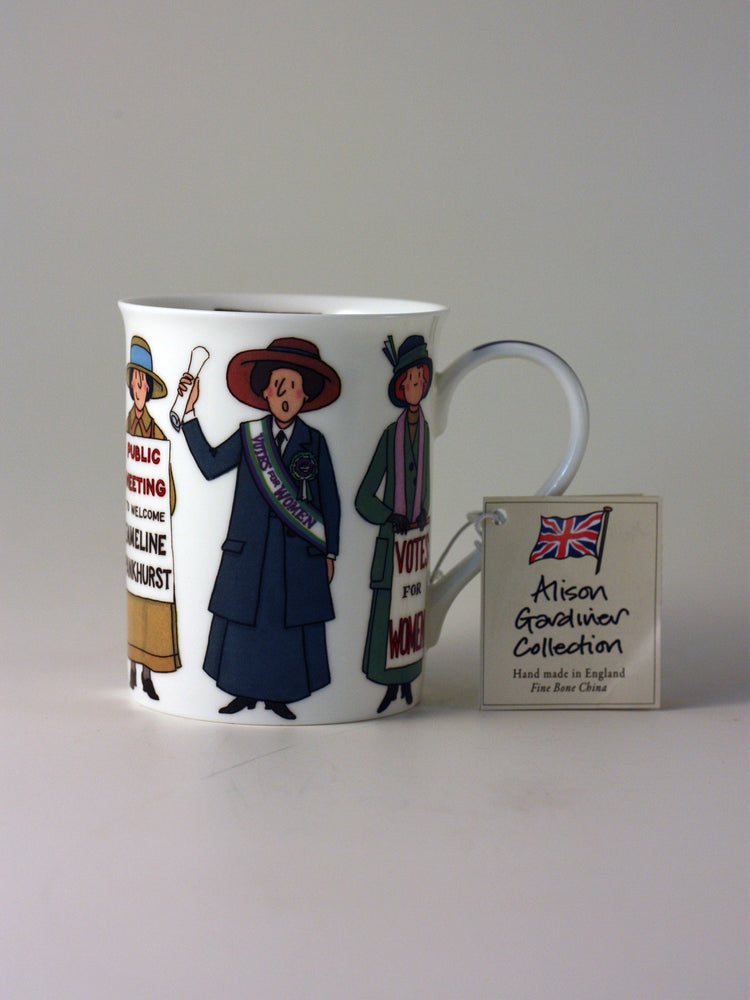 Alison Gardiner Fine Bone China Mug – Suffragette | Gifts | The Shrine Shop
