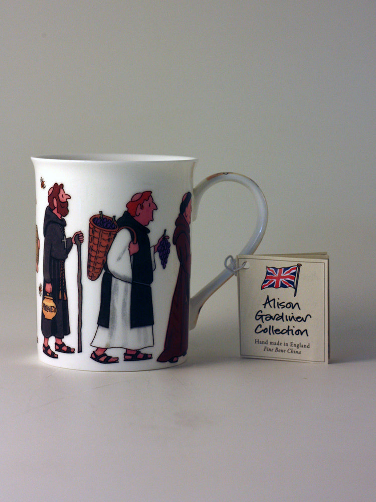 Alison Gardiner Fine Bone China Mug – Monks