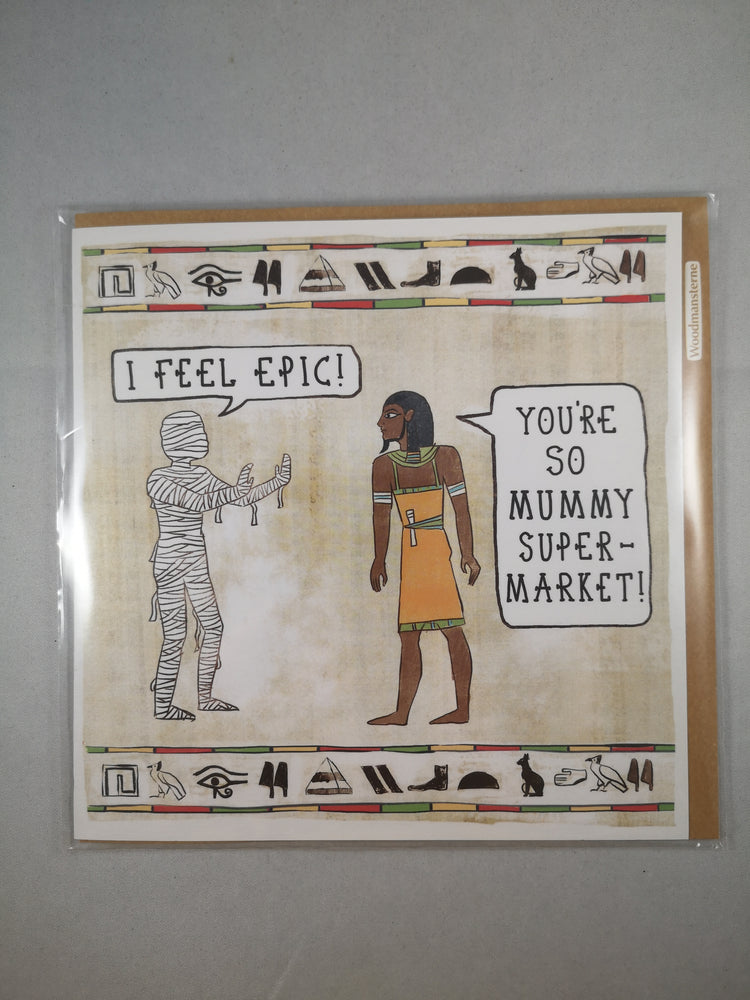 In De Nile – Mummy Supermarket | Greetings Cards & Stationery | The Shrine Shop