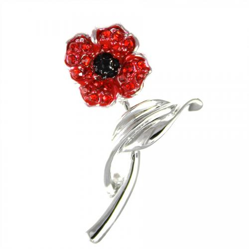 Poppy Brooch on Stem Small 30mm
