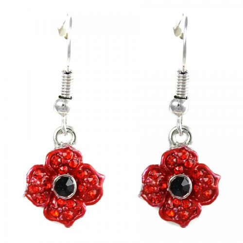 Poppy Drop Earrings 10mm