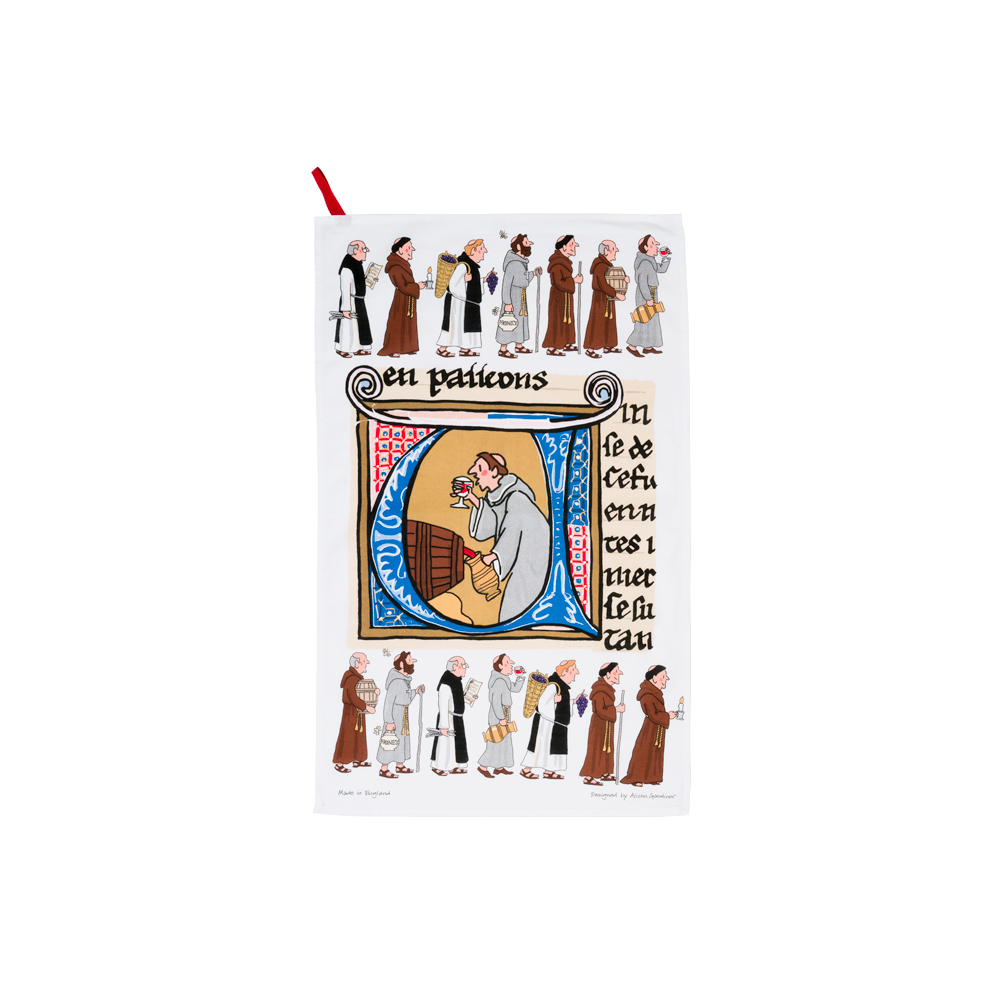 Alison Gardiner Tea Towel – Monks