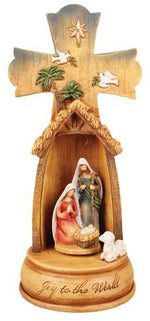 Nativity Cross Resin - The Shrine Shop