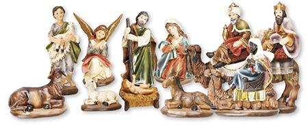 Nativity Set 11 Figures 2.75 inch | Crib Sets | The Shrine Shop