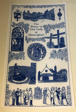 Our Lady of Walsingham Pilgrim Tea Towel