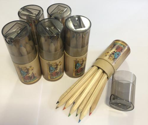 Our Lady of Walsingham Colouring Pencil Set and Sharpener