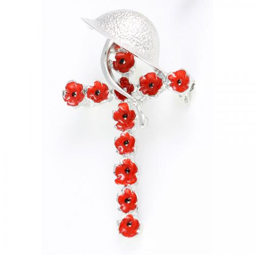 Poppy & Hemlet Brooch 43mm