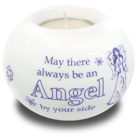 Porcelain Candle Holder Always an Angel
