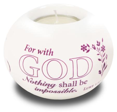 Porcelain Candle Holder For With God