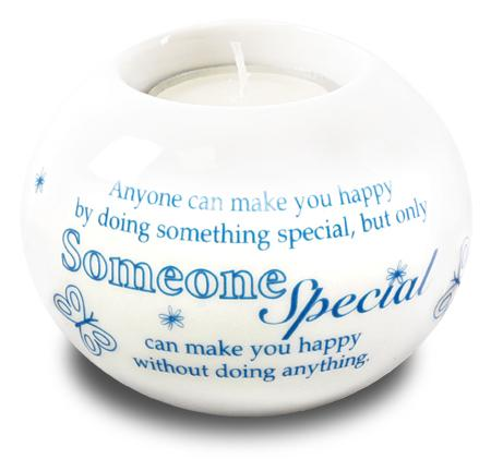 Porcelain Candle Holder Someone Special - The Shrine Shop
