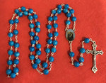 Rosary Blue Our Lady of Walsingham