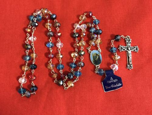 Rosary Our Lady of Walsingham Facetted Crystal - The Shrine Shop