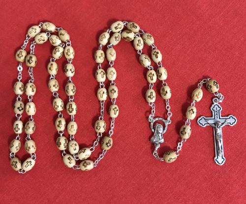 My Rosary - Natural Wood Bead with Cross | Rosaries & Prayer Cards | The Shrine Shop