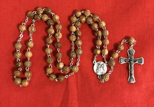 Rosary – Carved Olive Wood - The Shrine Shop