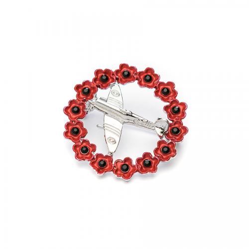 Poppy Spitfire in Wreath 30mm - The Shrine Shop