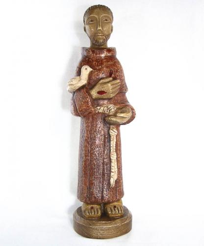 Statue St Francois 25cm - The Shrine Shop