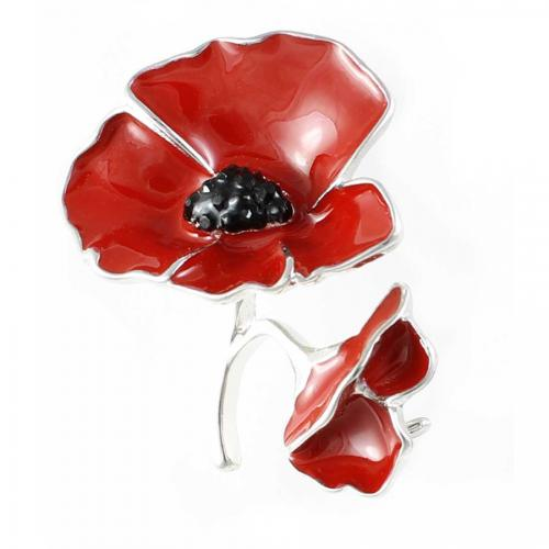 Poppy Two Poppies Brooch 32mm