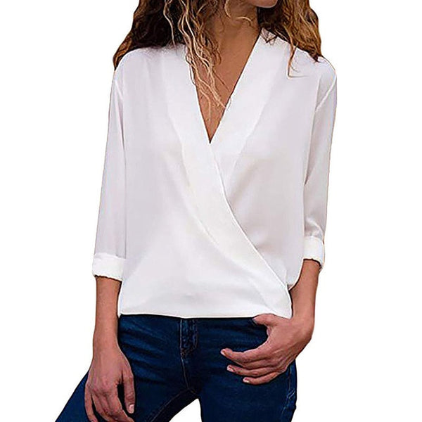 Chiffon Work Wear Office Blouse