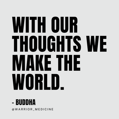 Buddha quote with our thoughts we make the world