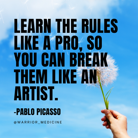 pablo picasso quote break the rules like an artist