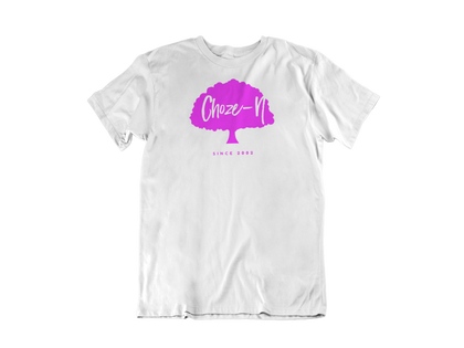 Choze-N Pink Tree White Unisex Shirt
