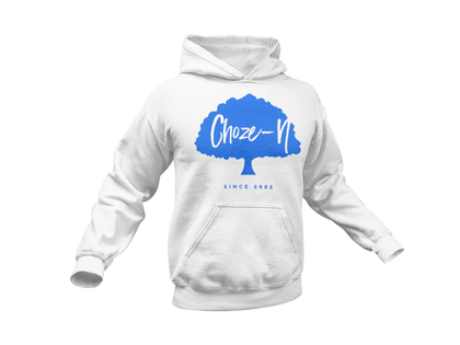 Choze-N Bold Orange Hoodie Blue Tree