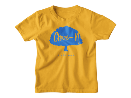 Choze-N Angels Kids Orange T-Shirt Blue Tree