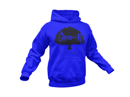 Choze-N Bold Red Hoodie Black Tree