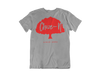 Choze-N Bold Grey Shirt Red Tree T-Shirt