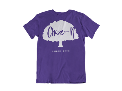 Choze-N Bold Blue Shirt White Tree T-Shirt