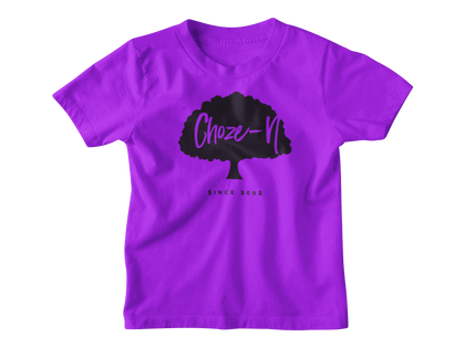 Choze-N Angels Kids Purple T-Shirt Black Tree