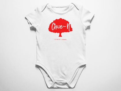 Choze-N Angels White Onesie Red Tree